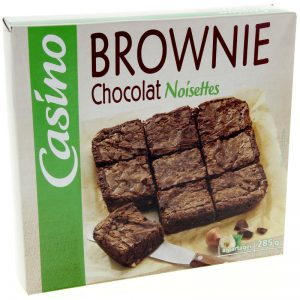 brownie chocolat noisette